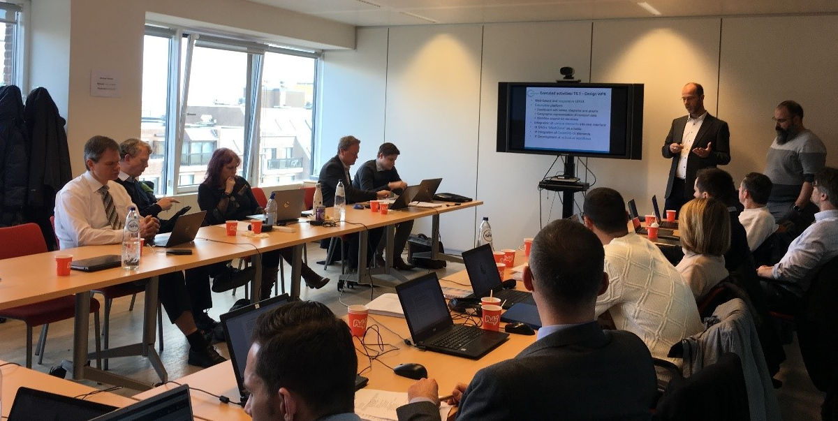 First Review meeting of LOGISTAR in Brussels