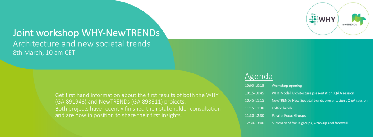 WHY and NewTRENDs projects present their first results in a joint workshop banner